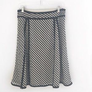 Flowy Striped Midi A Line Skirt Size 10